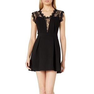 Black Lace Inset Dress